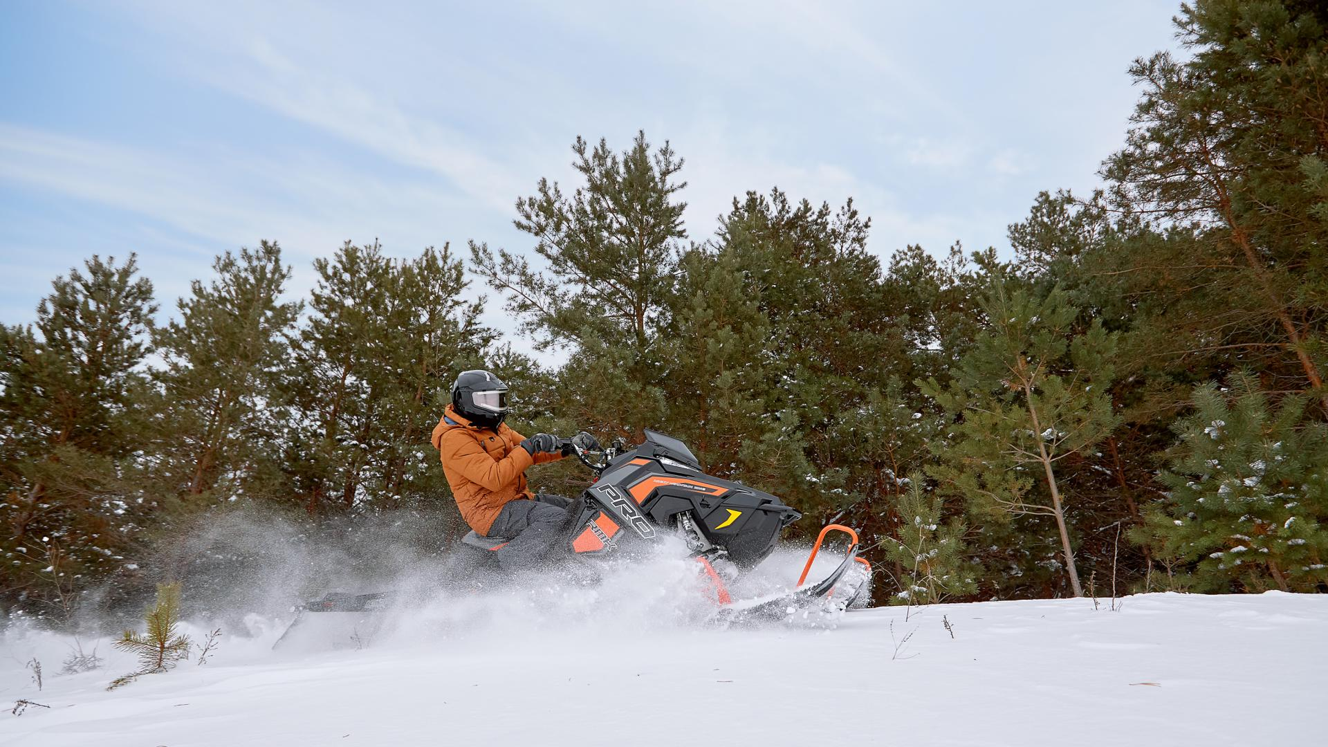 Snowmobiler in Detroit Lakes, Minnesota