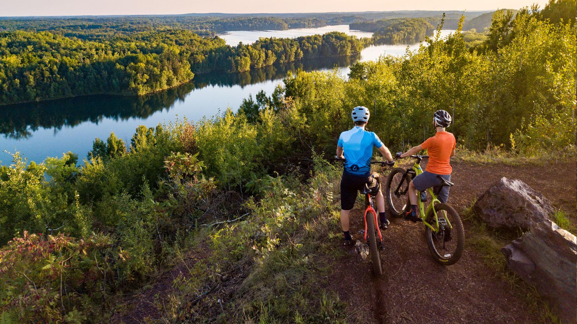 Ironton Cuyuna couple biking