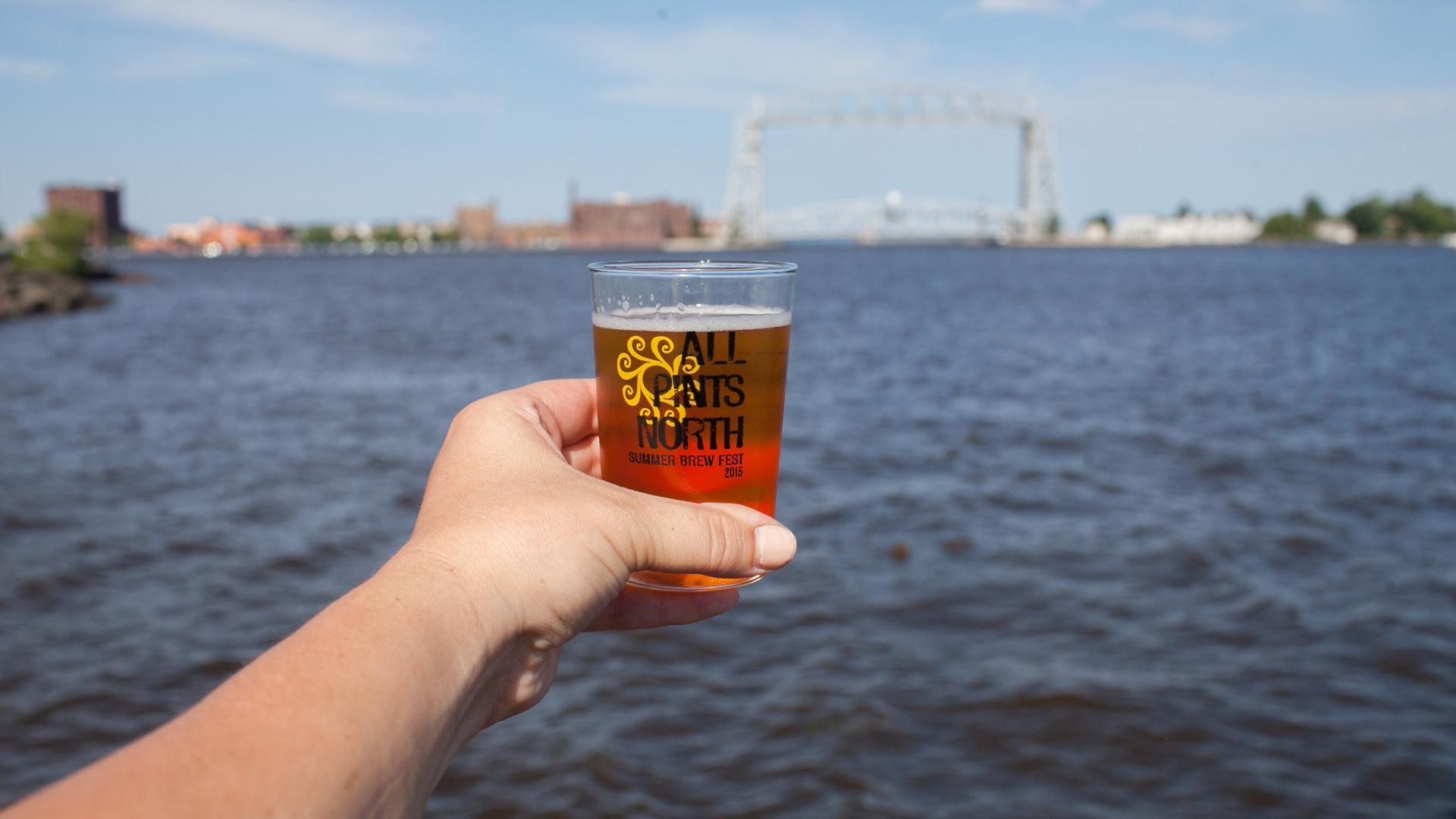 Beer and Aerial Lift Bridge