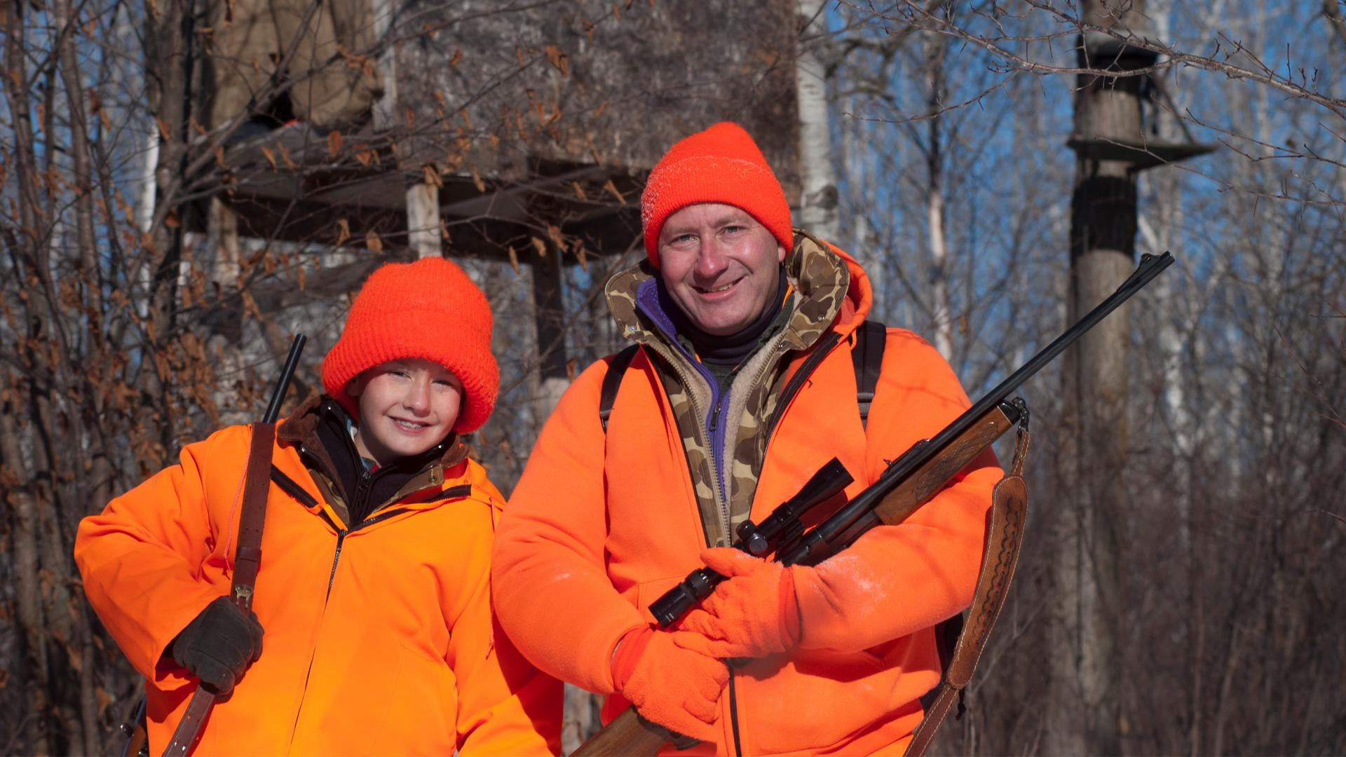 Father and son deer hunters