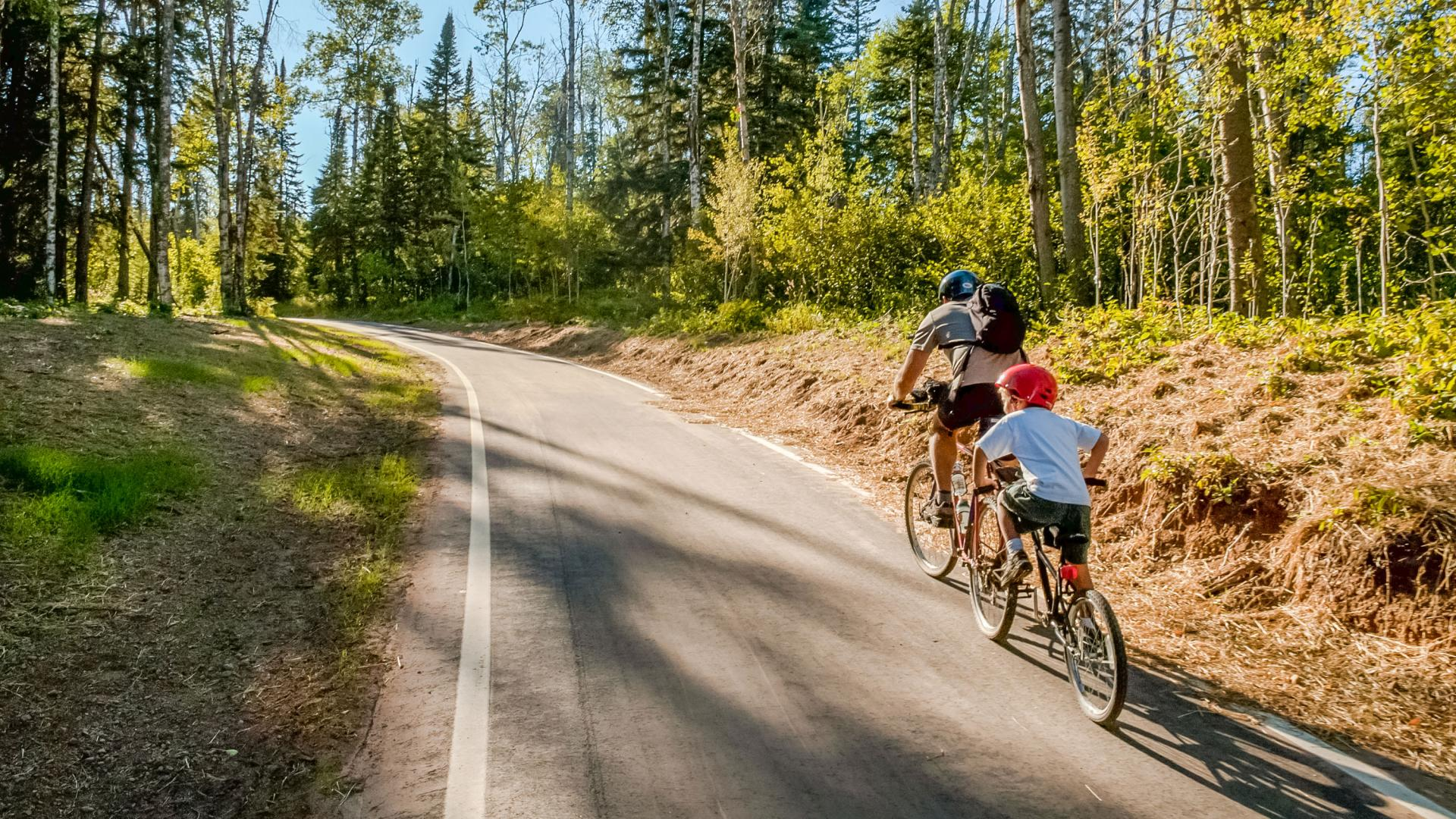 Gitchi Gami Bike Trail along the North Shore of Lake Superior
