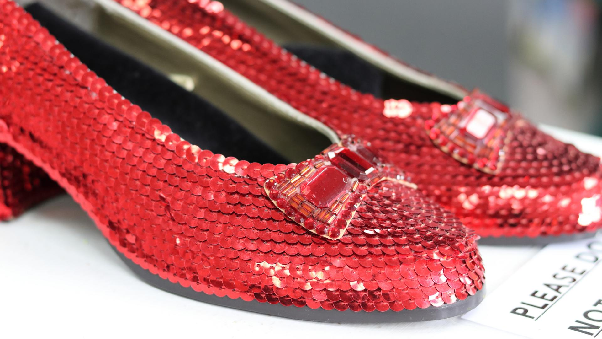 Judy Garland Museum red slippers Grand Rapids