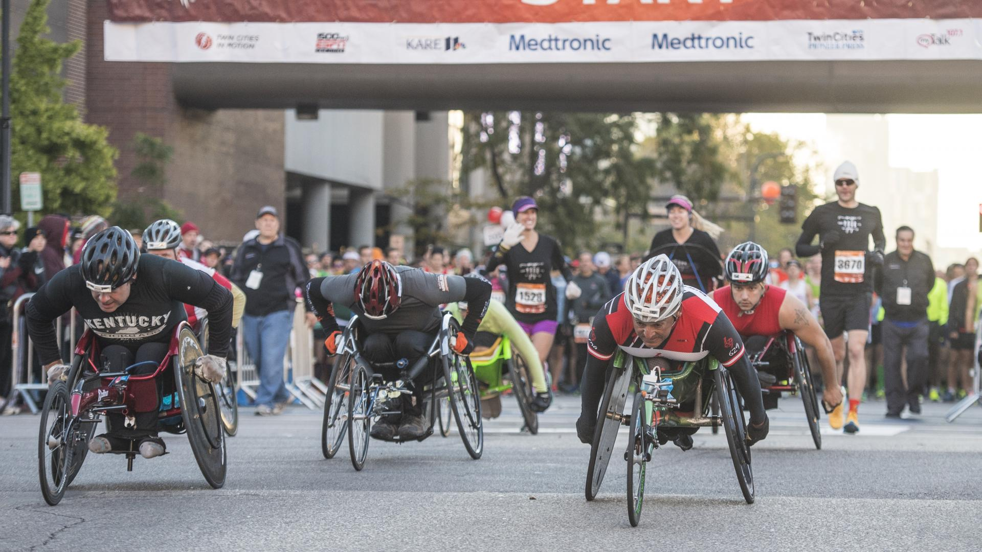 Wheelers at the Twin Cities Marathon
