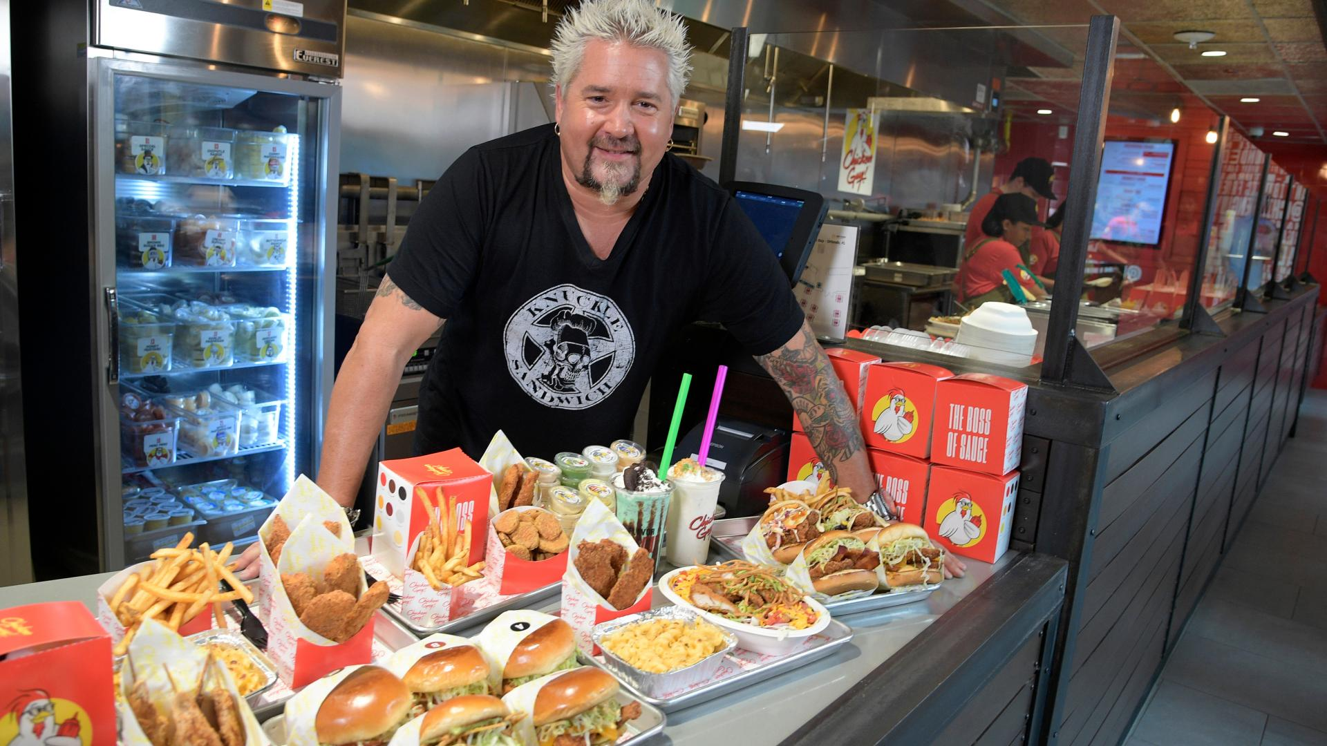 Guy Fieri at Chicken Guy! restaurant