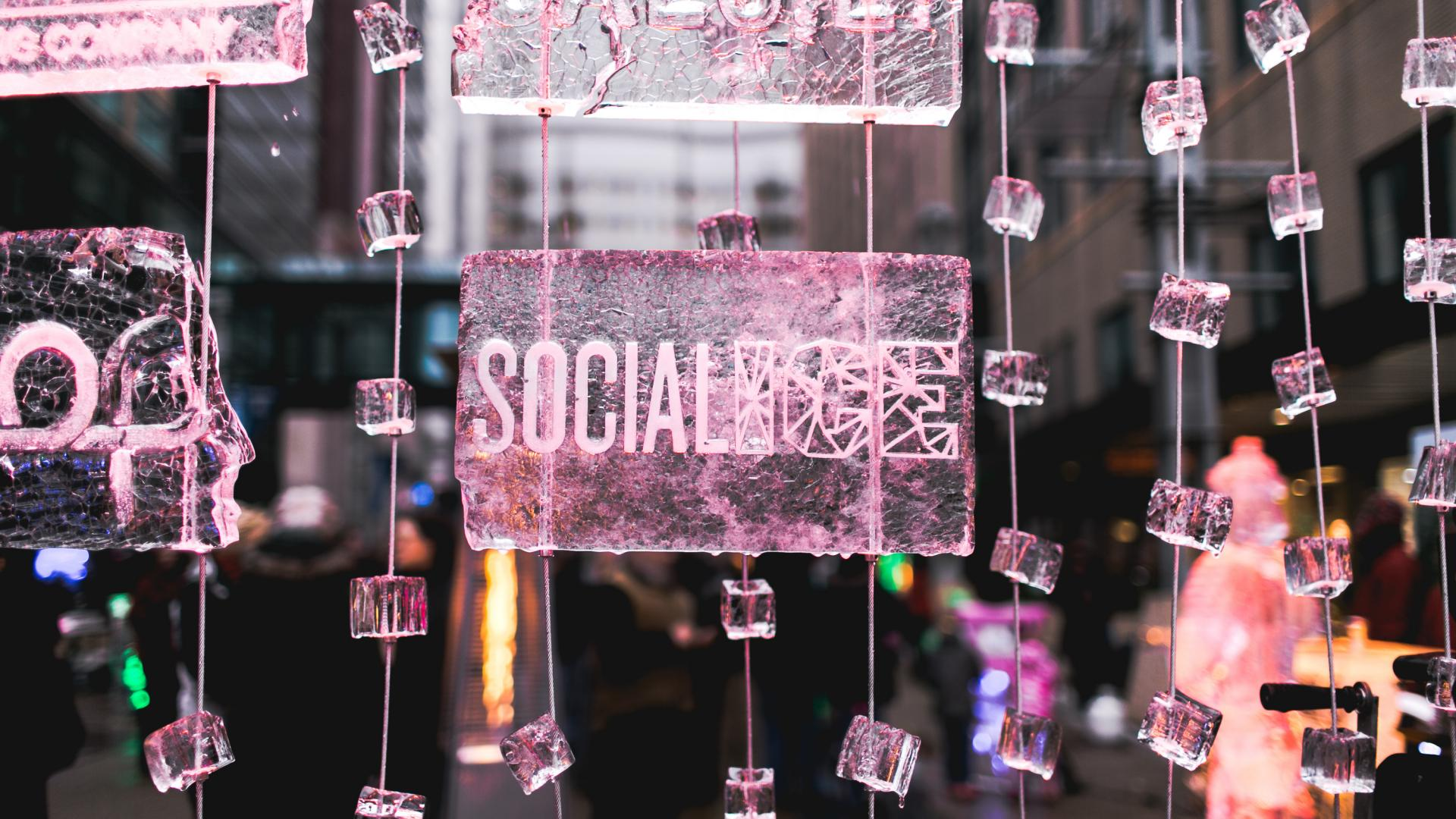 SocialICE ice sculpture