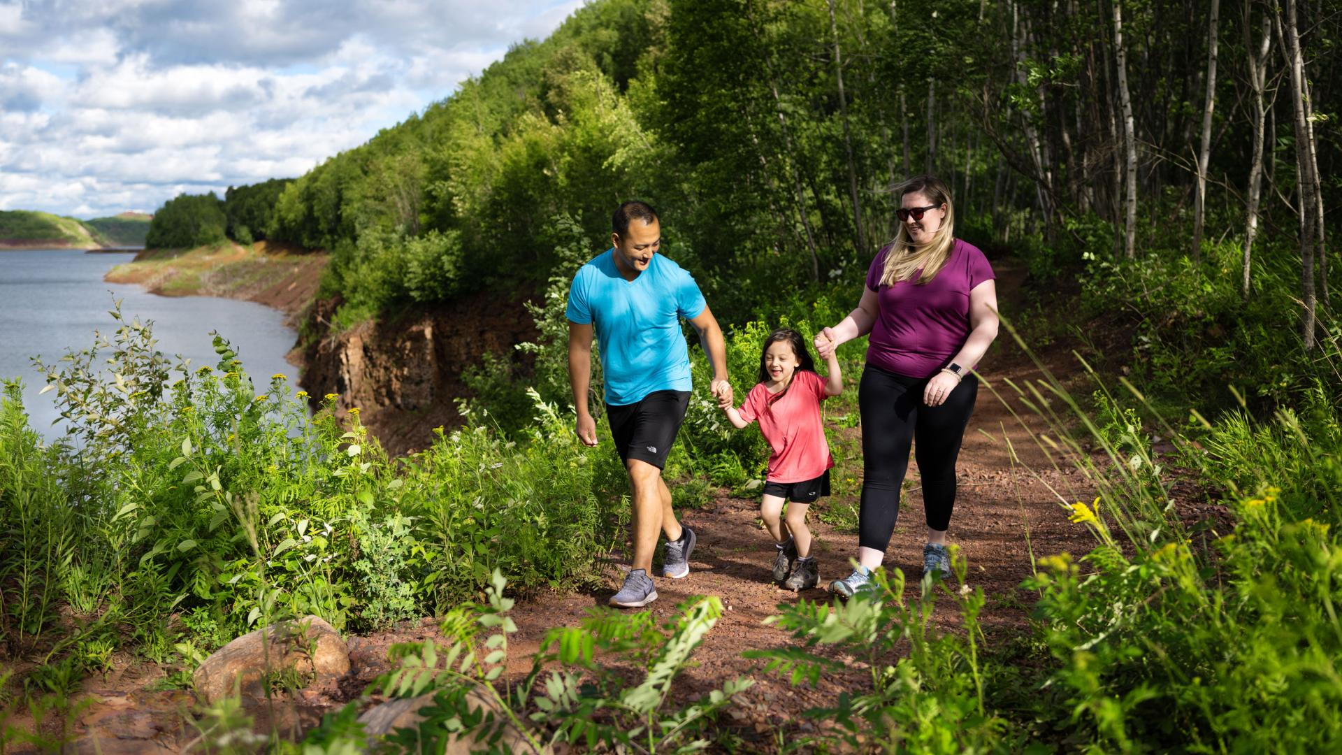 Family hikes beside former iron mines at Redhead Mountain