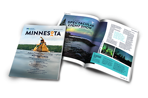 2021 Explore Minnesota travel guide cover and inside preview