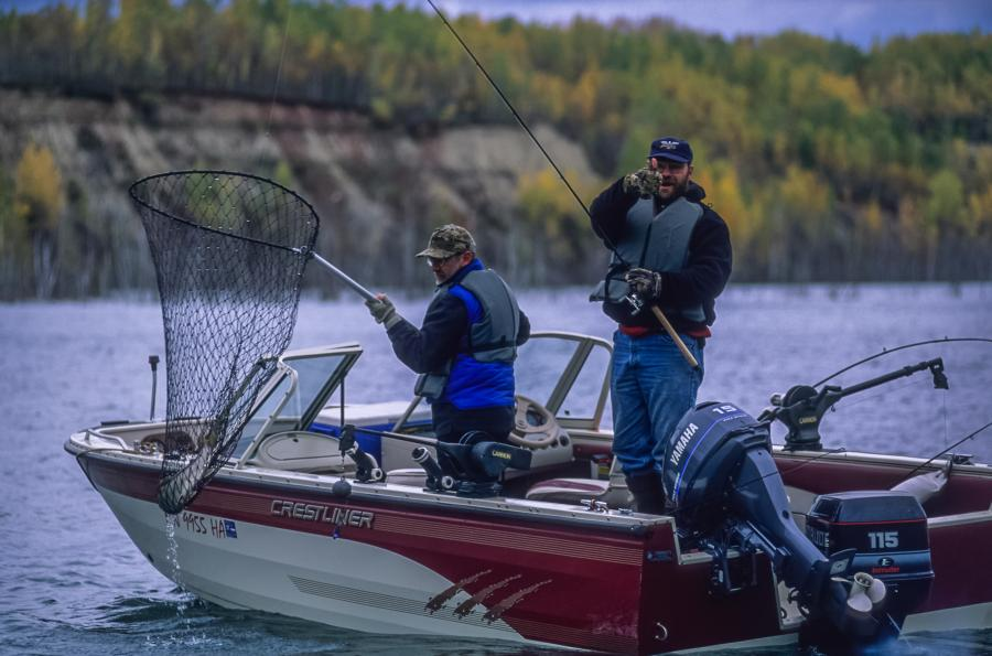 Fishing for trout in stocked pit lakes on the Iron Range