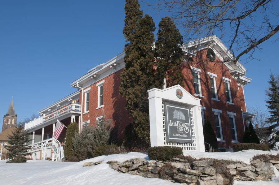 The Jail House B&B in Preston Minnesota during the winter