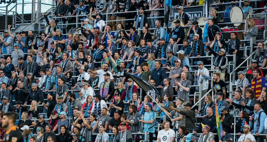 Allianz Field crowd at MN United game