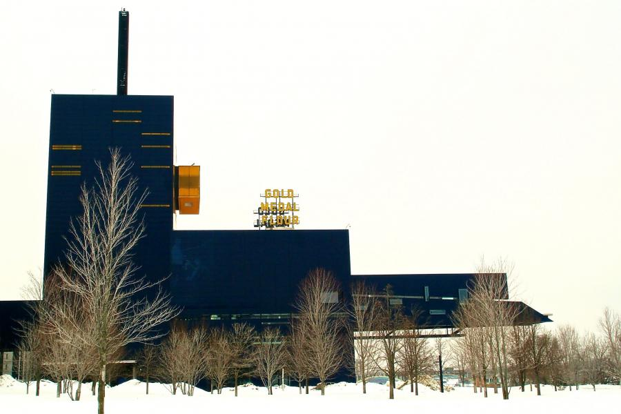 The Guthrie Theater in the snow