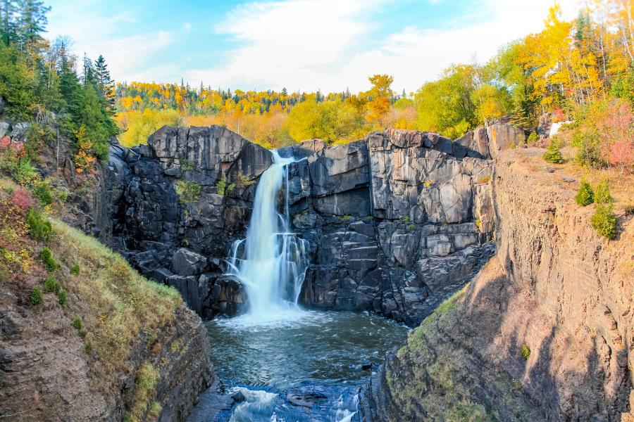High Falls Grand Portage in the fall