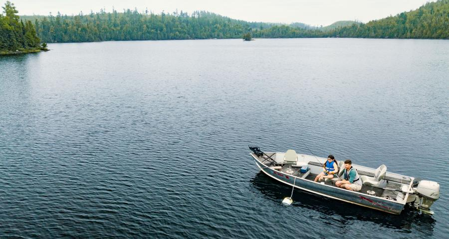 Loon Lake family fishing