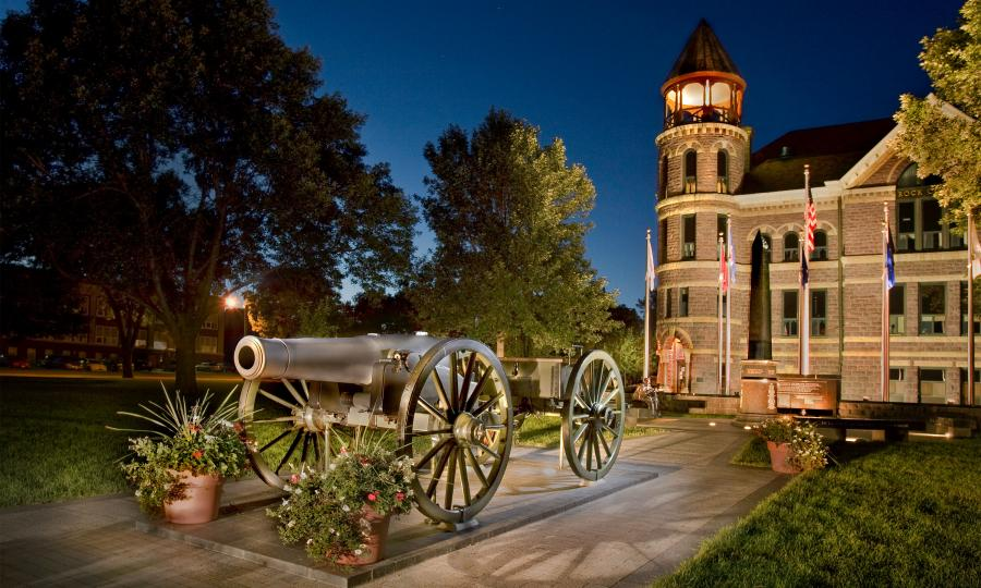 Luverne Courthouse at night