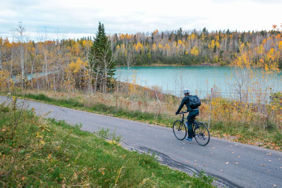 Mesabi Trail fall biking