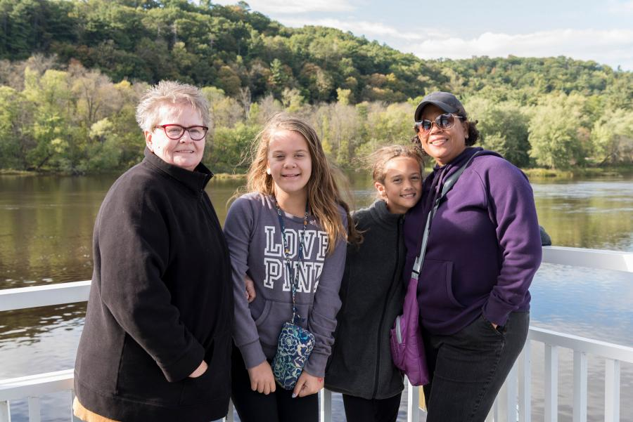 Multigenerational family on Taylors Falls Scenic Boat Tour