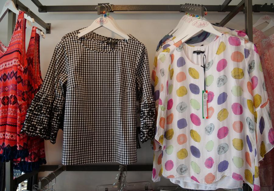 Women's blouses at Shelly's Boutique in Shakopee