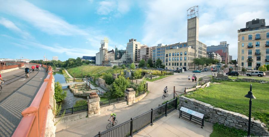 Stone Arch Bridge and Mill City district