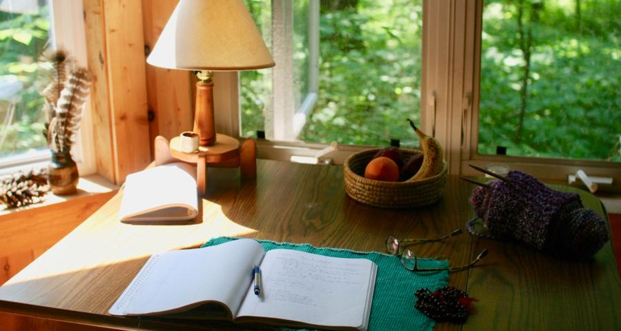 Writing in solitude at ARC Retreat Center