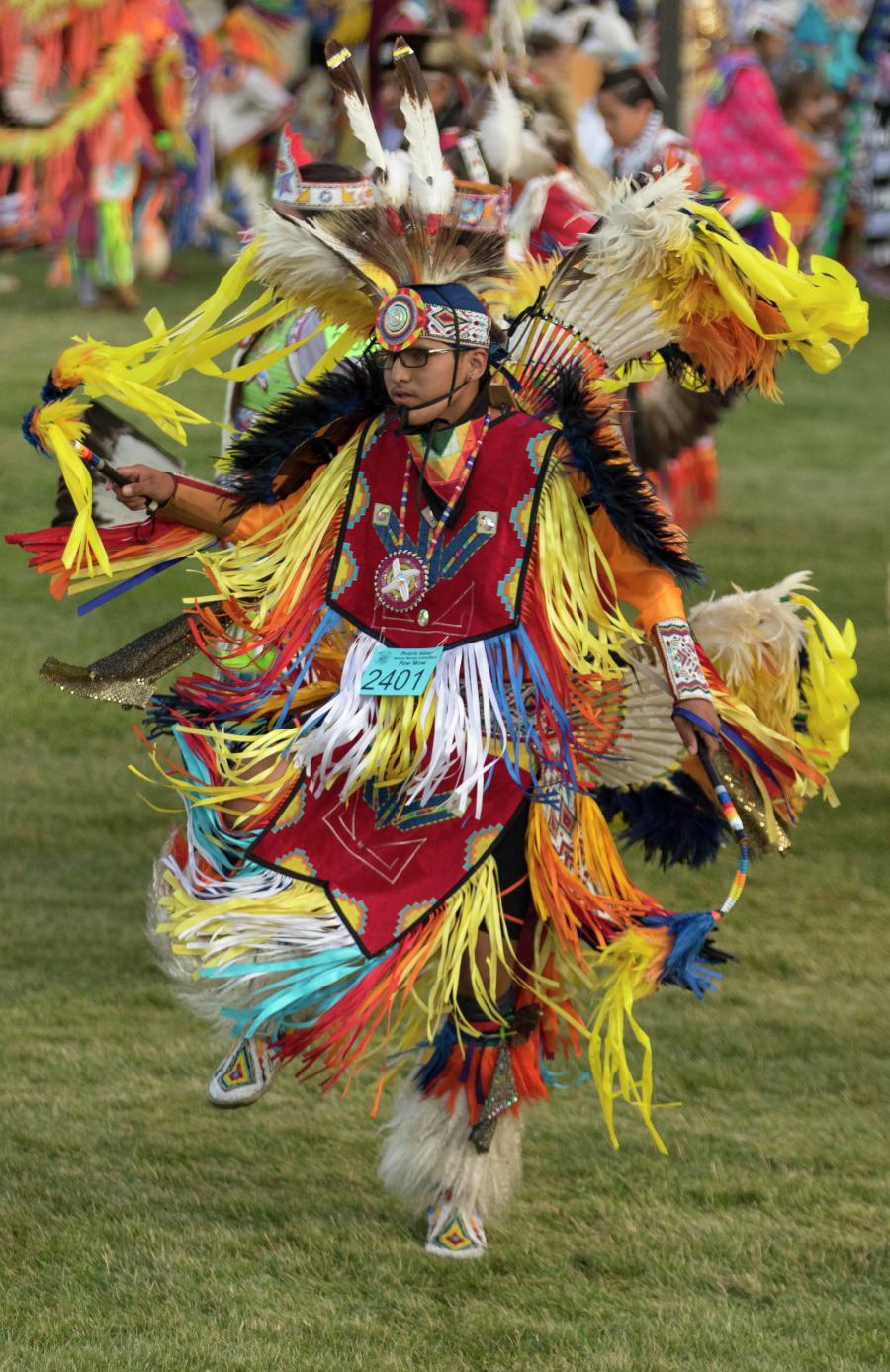 Dancer at Prairie Island Indian Community Wacipi