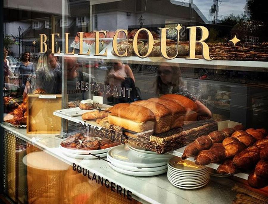 A window of pastries at Bellecour restaurant in Wayzata