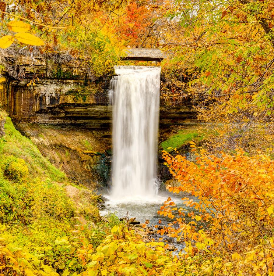 Minnehaha Falls waterfall fall Minneapolis