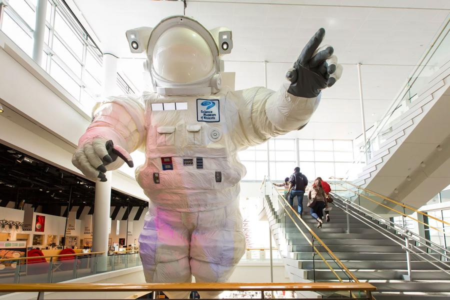 Giant Astronaut sculpture at Science Museum of Minnesota