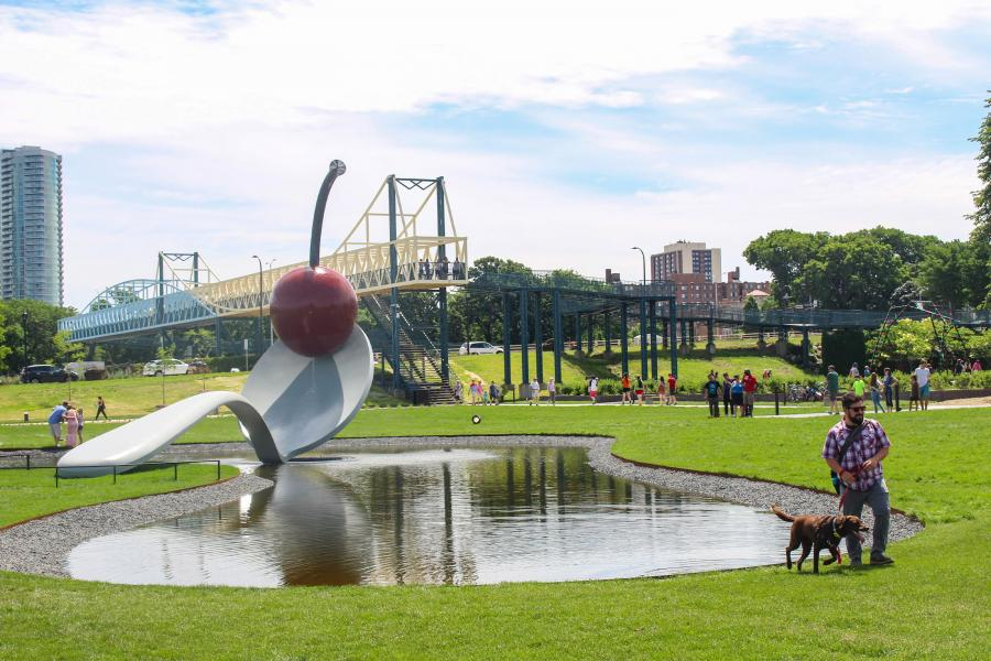 Spoonbridge and Cherry at the Minneapolis Sculpture Garden