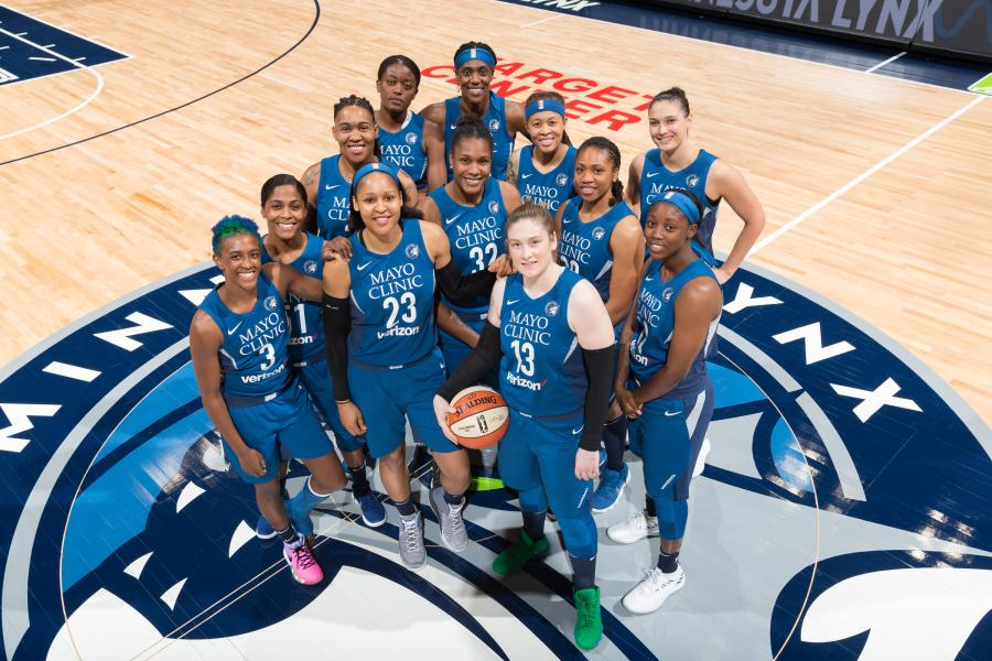 Minnesota Lynx team photo