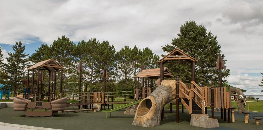 The all inclusive playground at Paul Bunyan Park