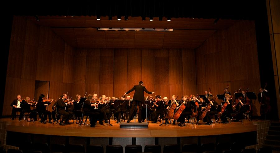 Bemidji Symphony Orchestra performing on stage