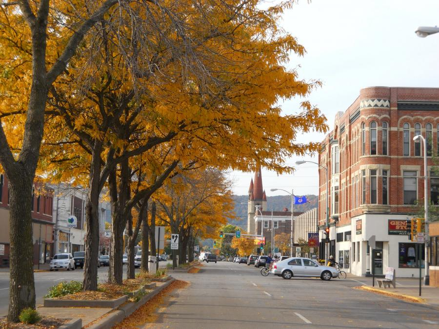 Downtown Winona in the fall