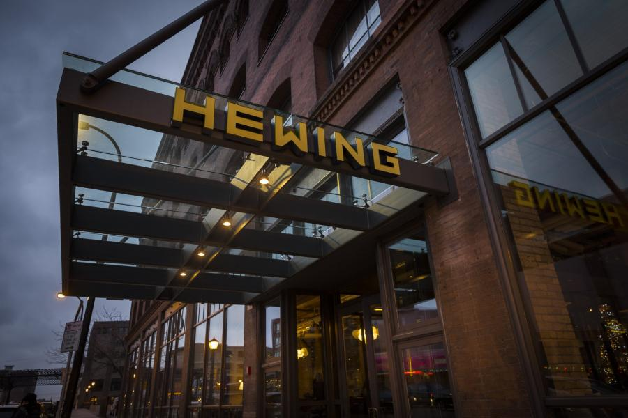 Hewing Hotel awning