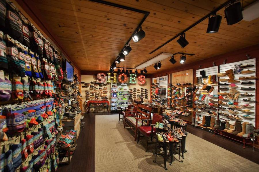 Shoe section of Zaisers store in Nisswa