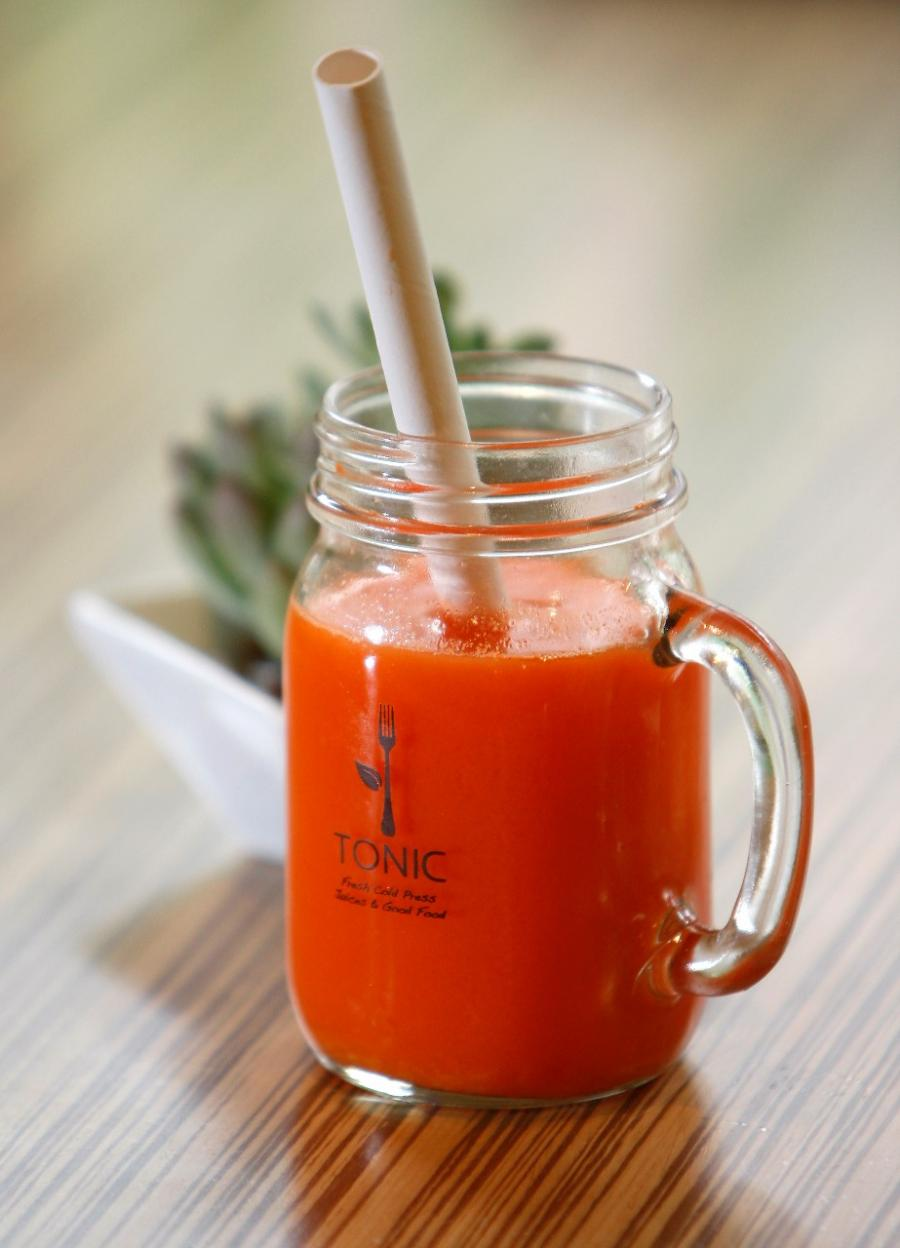 Glass of juice from Tonic in Rochester
