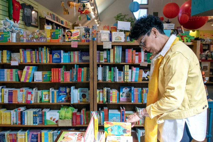 Woman shopping at Red Balloon Books