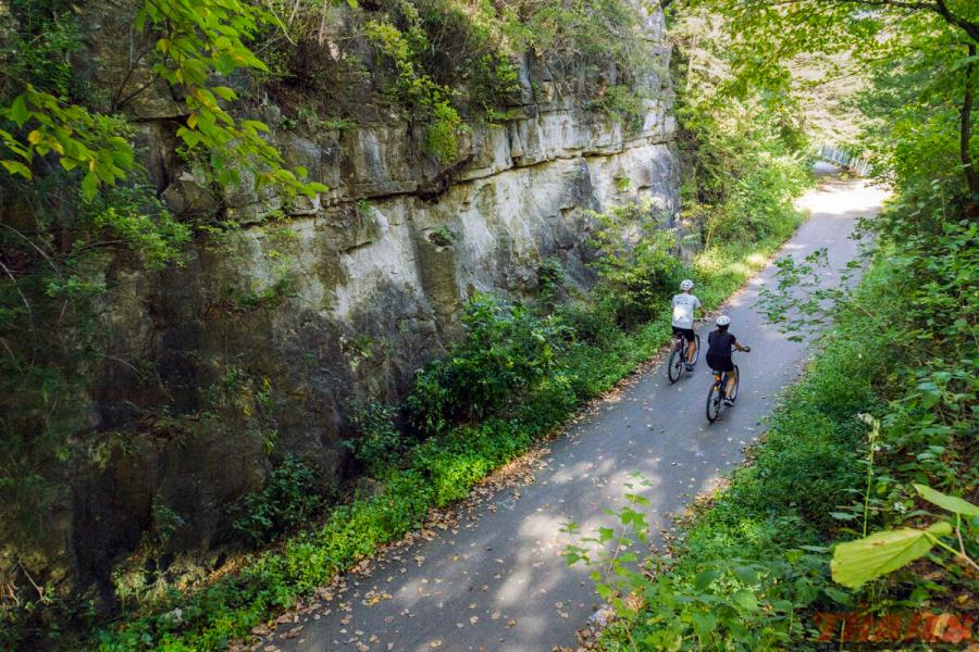 Biking on the Root River State Trail