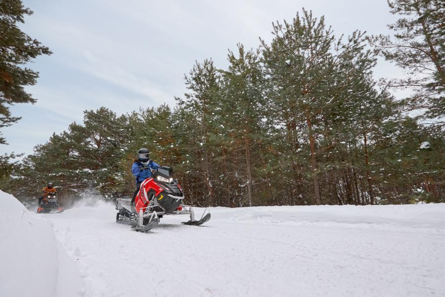 Snowmobiling in northwest Minnesota