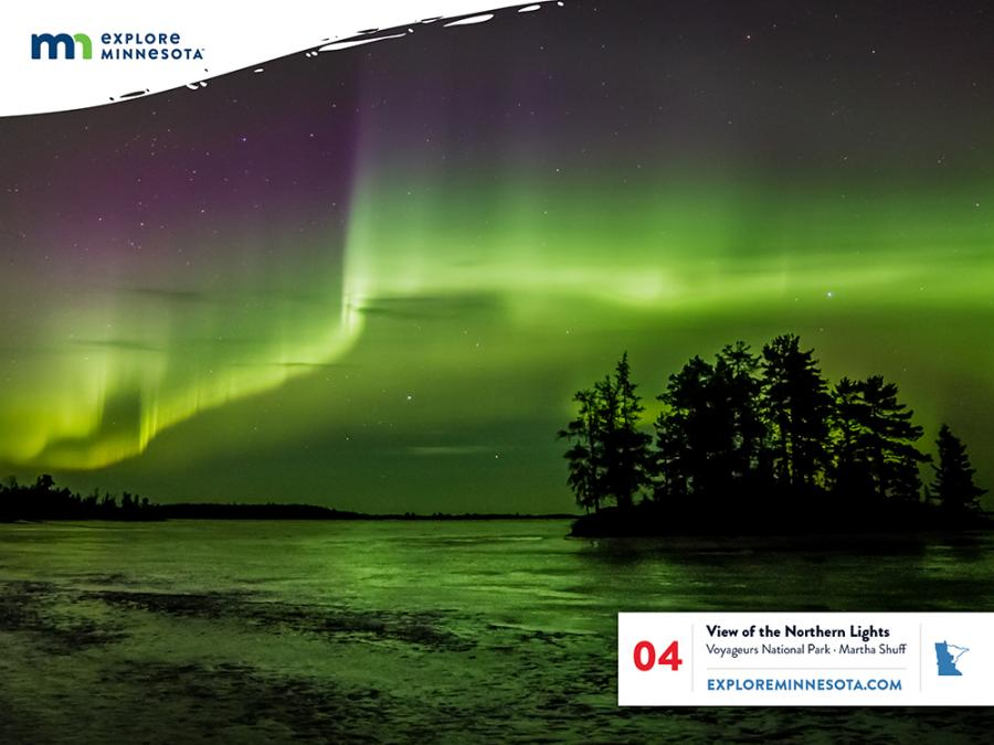 Jigsaw Puzzle 4 - Northern Lights in Minnesota
