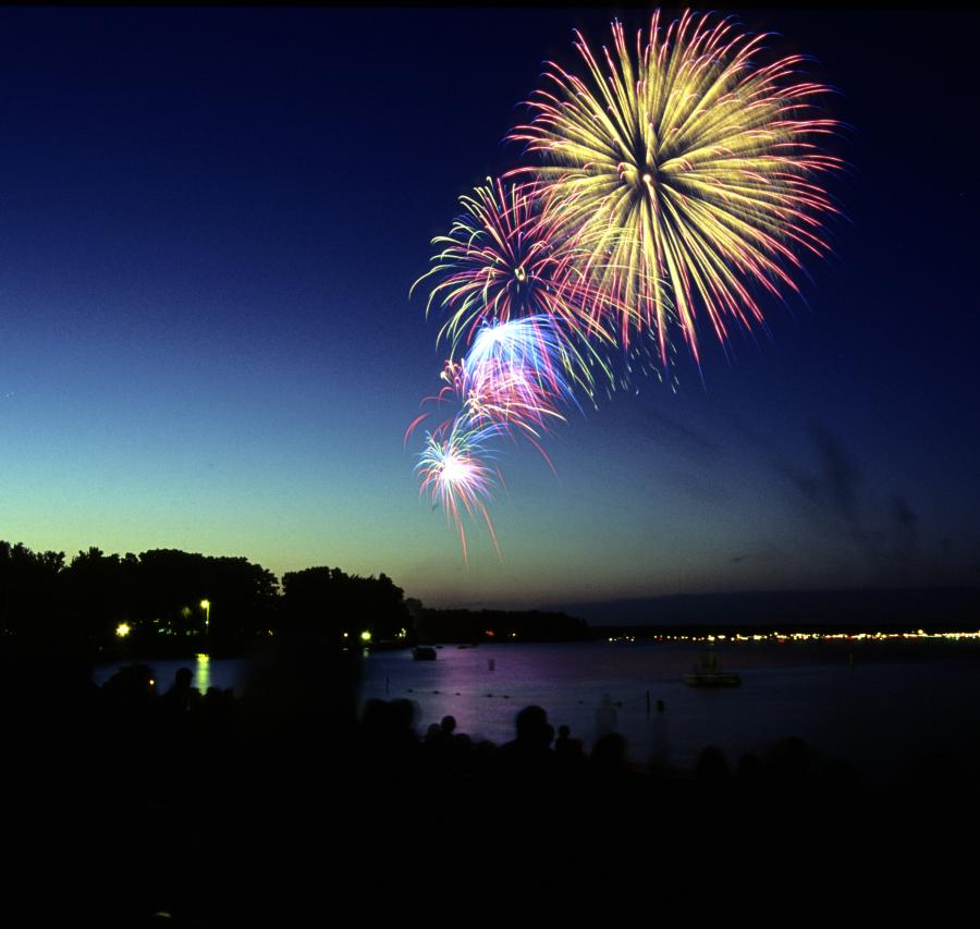 July 4 fireworks over Green Lake in Spicer