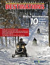 2020 Minnesota Snowmobiling Destinations Cover
