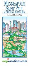 Twin Cities Illustrated Pocket Map Cover