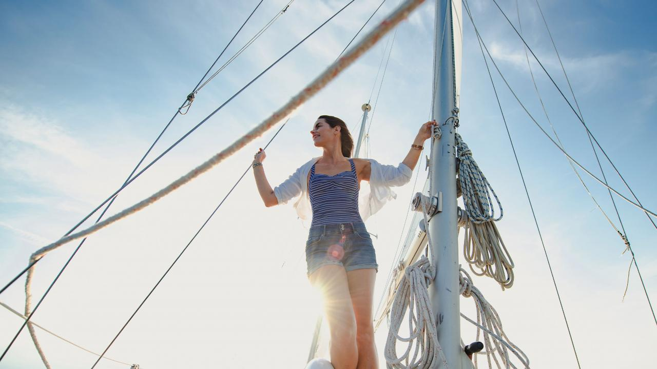 Lake City Lake Pepin woman sailing