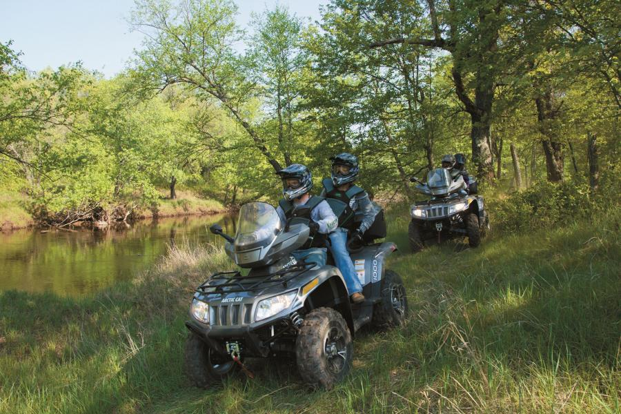 Group ATVing in Thief River Falls
