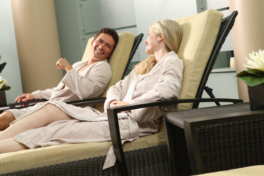 Man and woman at Grand Casino spa