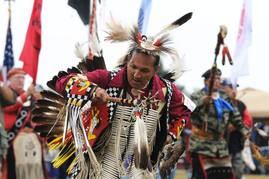Native American powwow dancer