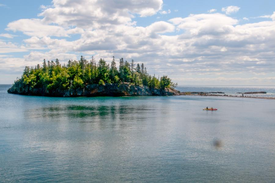 Kayakers Lake Superior North Shore