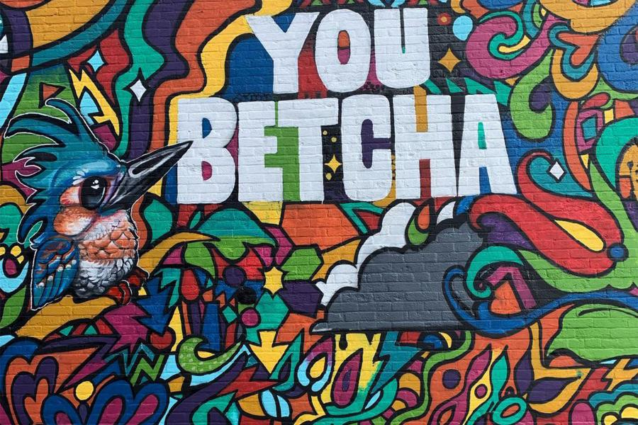 You Betcha mural Brainerd