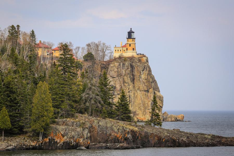 Split Rock Lighthouse in the fall