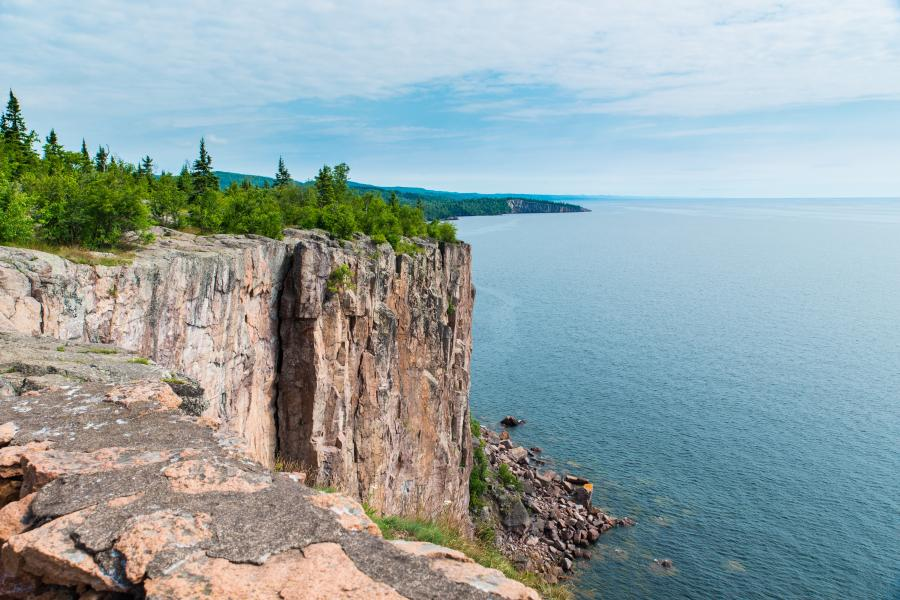 "The ""Palisade Head"" rock cliff formation overlooking Lake Superior"